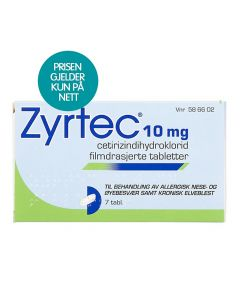 Zyrtec tabletter 10 mg 7 stk