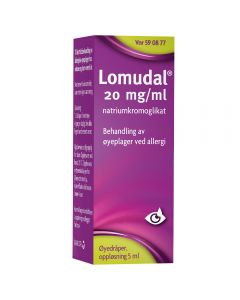 Lomudal øyedråper 20 mg/ml 5 ml