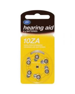 Boots batteri for høreapparat 10Za 6 stk