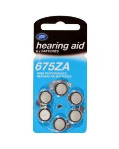 Boots batteri for høreapparat 675Za 6 stk