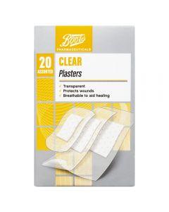 Boots Pharmaceuticals gjennomsiktig plaster 20 stk