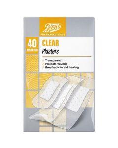 Boots Pharmaceuticals gjennomsiktig plaster 40 stk