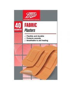 Boots Pharmaceuticals tekstilplaster 40 stk
