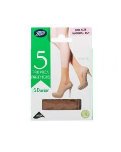Boots Basic ankelstrømper natural one size 5 par