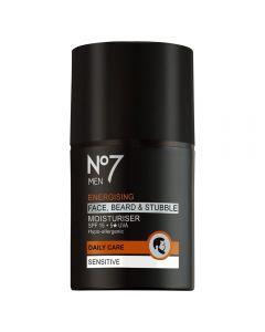 No7 Men Face, Beard & Stubble fuktighetskrem 50 ml