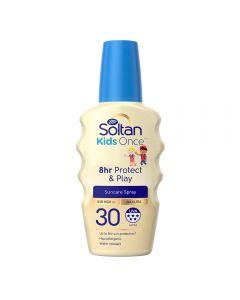 Soltan Kids Once 8hr Protect & Play Suncare Spray spf 30 200 ml