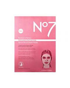 No7 Restore & Revew Face & Neck Multi Action Serum Sheet Mask