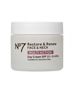 No7 Restore & Renew FACE & NECK MULTI ACTION Day Cream 50ml