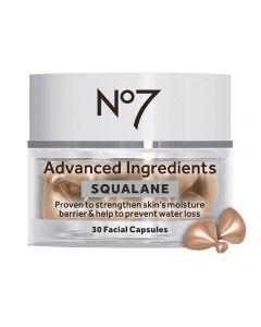 No7 Advanced Ingredients SQUALANE Facial Capsules 30stk