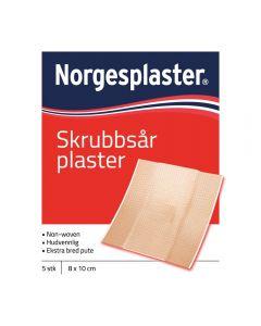 Norgespl skrubbsår 5Stk 8 x 10 cm