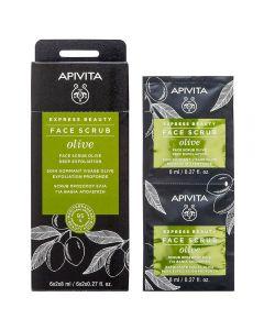 APIVITA EXPRESS OLIVE eksfolierende ansiktsmaske 2x8 ml
