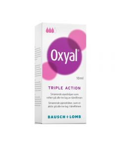 Oxyal Triple Action Øyedråper 10 ml