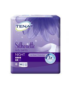 TENA Silhouette Night High Waist, buksebleie, M, 8 stk