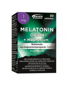 Melatonin Orion 1 mg + Magnesium tabl. 30 stk