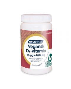 Nycoplus vegansk D3-vitamin 10 µg tablett 100 tabletter