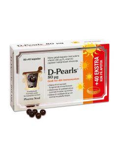 D-Pearls kapsler 80mcg