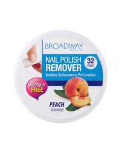 Broadway neglelakkfjerner peach 32 stk