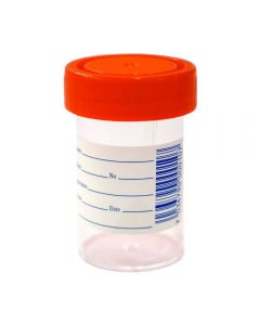 Urinprøveglass M/Lokk 60 ml 1 stk