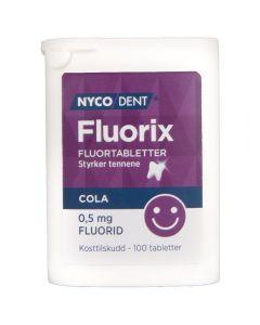 Nycodent Fluorix 0,5 mg Cola 100 stk