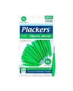Plackers mellomromsbørste grønn 0,8 mm XL, 24 stk
