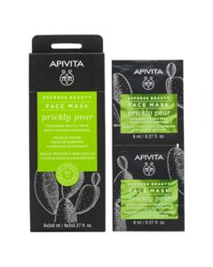 APIVITA PRICKLY PEAR MISTURIZING & SOOTHING ansiktsmaske 2x8 ml