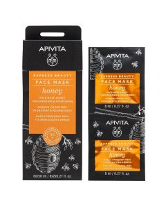 APIVITA EXPRESS HONEY ansiktsmaske 2x8 ml