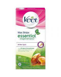 Veet Essential Voksstrip Kropp 20 stk