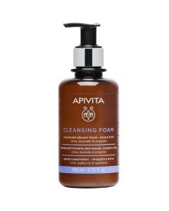 APIVITA CLEANSING CREAMY FOAM-FACE & EYES  200 ml