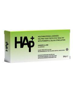 HAp+ sugetabletter ingefær og limesmak 16stk