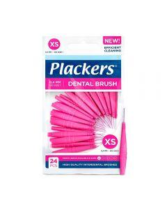 Plackers mellomromsbørste rosa 0,4 mm XS, 24 stk