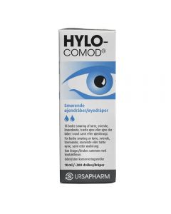 Hylo-Comod Øyedråper U/Kons 10 ml