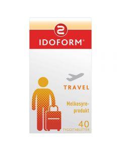 Idoform Travel melkesyrebakterier tyggetabletter 40 stk