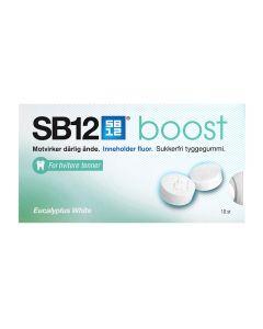SB12 Boost Tyggegummi Eucalyptus White 10 stk