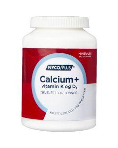 Nycoplus Calcium M/K&D3 Tab 100 stk
