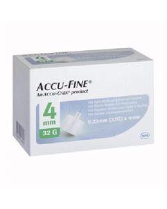 Accu-Fine Pen Needle 32G 4Mm 100 stk