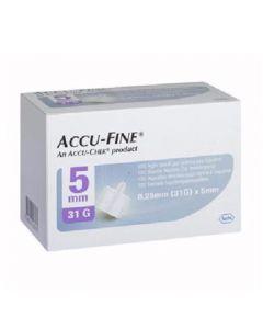 Accu-Fine Pen Needle 31G 5Mm 100 stk