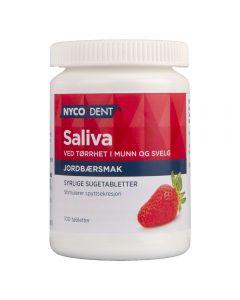 Nycodent Saliva sugetablett med jordbærsmak 100 stk