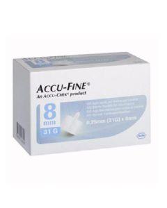 Accu-Fine Pen Needle 31G 8Mm 100 stk