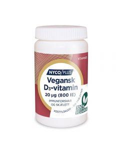 Nycoplus Vegansk D3-vitamin 20µg tablett 100 stk