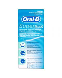 Oral-B Tanntråd Super Floss 50 stk