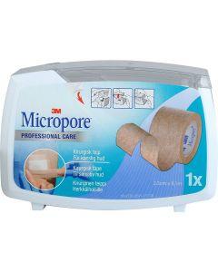 Micropore 2,5Cmx9,14M Disp Bru 1 stk