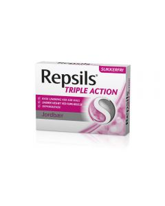 Repsils Triple Action Jordbær 24 stk