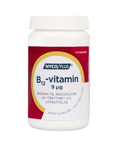 Nycoplus B12-Vitamin Tab 9 mcg 100 stk