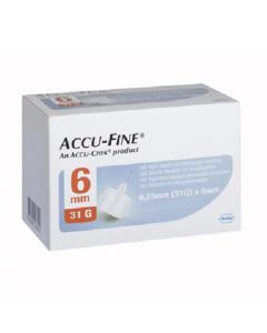 Accu-Fine Pen Needle 31G 6Mm 100 stk