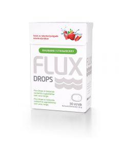 Flux Drops SugetablettJordbær/Rabarbra 30 stk