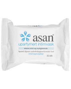 Asan intimservietter uten parfyme 30stk