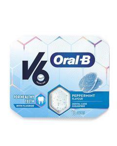 V6 Oral-B tyggegummi peppermint 17 g