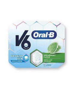 V6 Oral-b tyggegummi spearmint 17 g