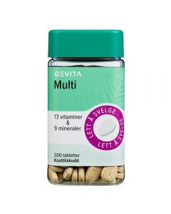 Gevita Multi tabletter 200stk