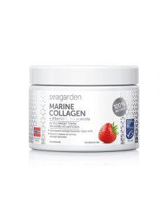 Seagarden Marine Collagen + Vit C Jordbær 150 g